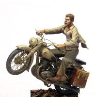 Wielka Ucieczka – figurka motocyklisty 1:35