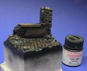 podstawka figurki pokryta czarnym washem