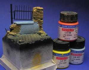 pomalowane kolory bazowe podstawki
