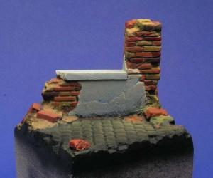 pomalowanie nposzczególne cegły podstawki