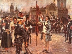 Kościuszko na rynku w Krakowie