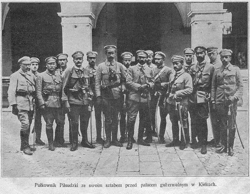 Sztab Legionów w Kielcach 1914