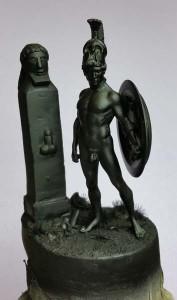 malowanie podstawki figurki
