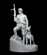 German Officer with Doberman