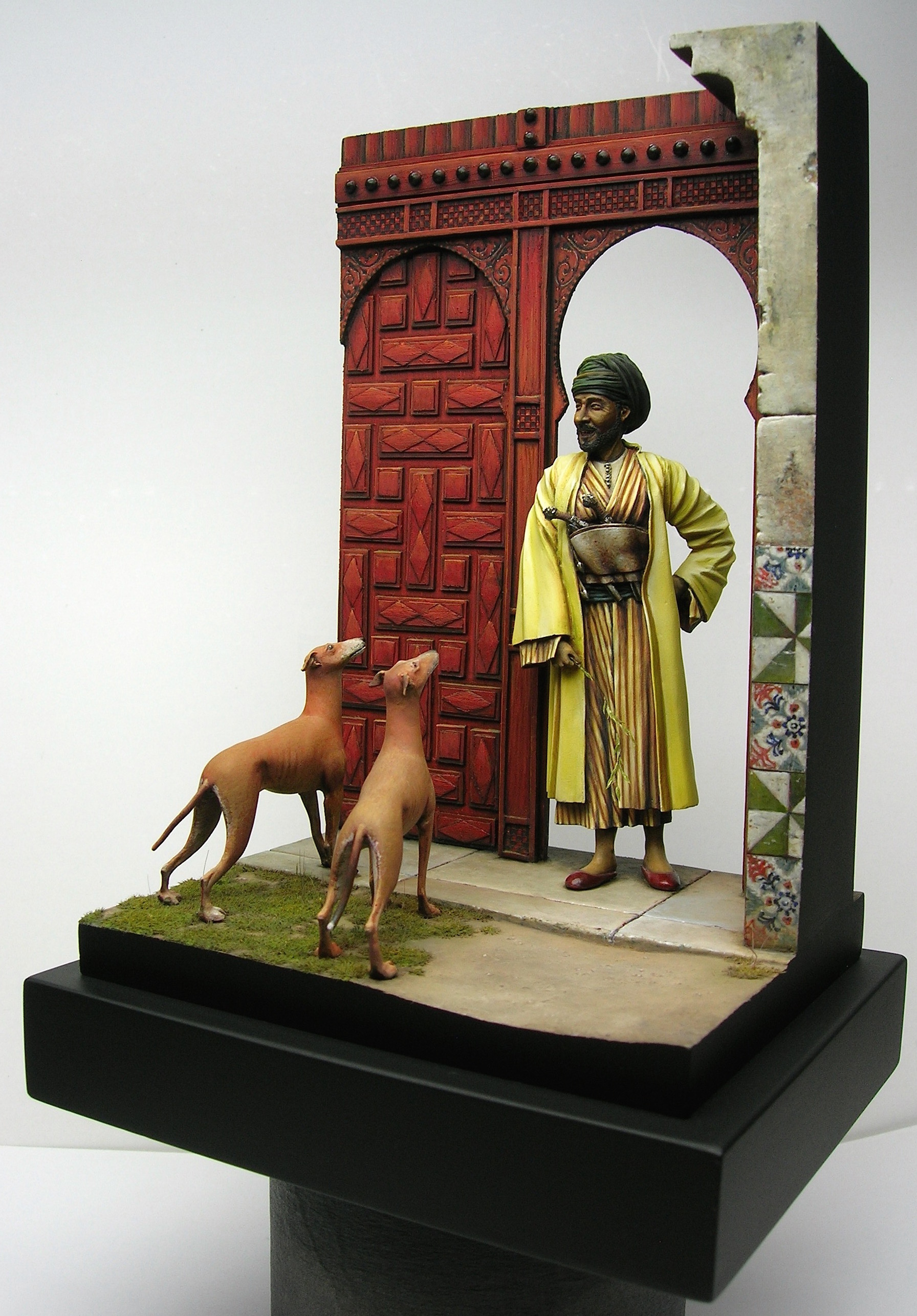 Arab and his dogs