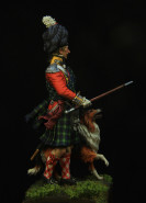 Highlander officer with his collie